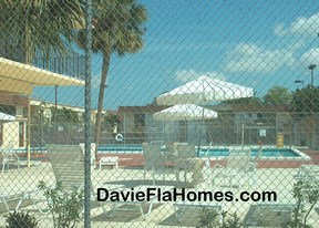 Pool area at Brentwood Townhomes in Davie