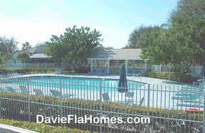 A community pool at Forest Ridge in Davie FL