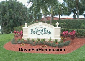 Pine Island Ridge in Davie Florida